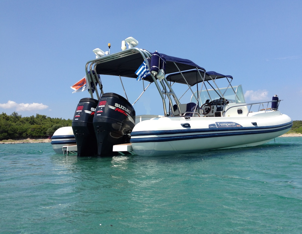 Inflatable  10m speed boat 1 cabin