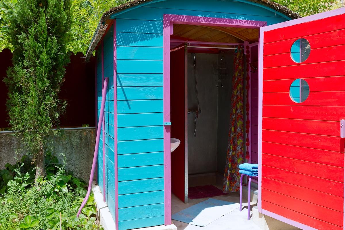 salle d'eau douche lavabo WC