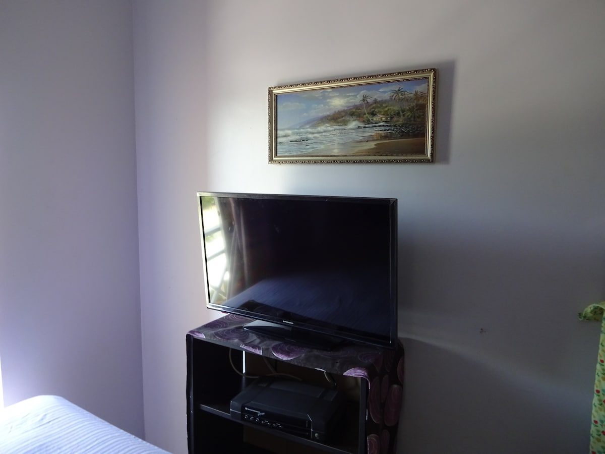 Flat Screen TV in Bedroom
