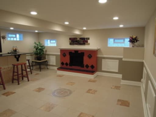 Newly remodeled lower level