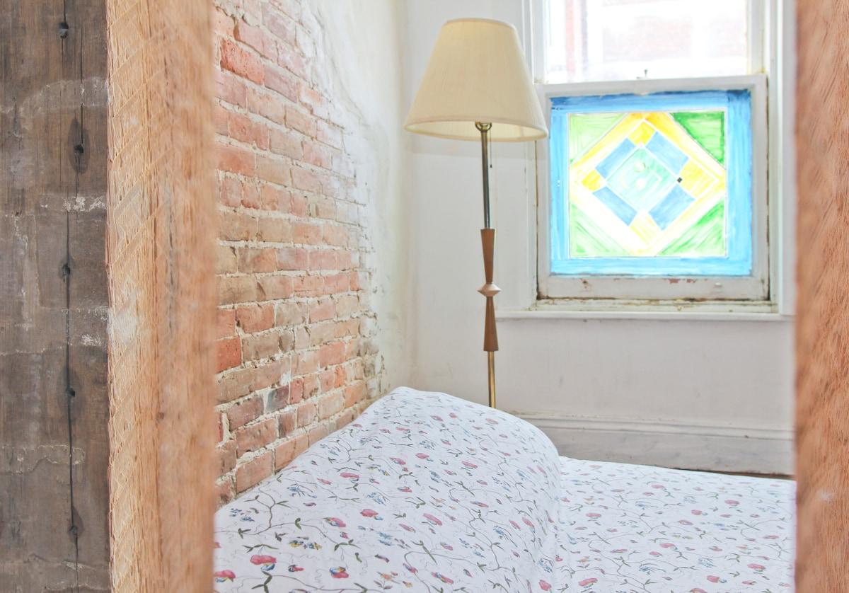 Artsy downtown bedroom
