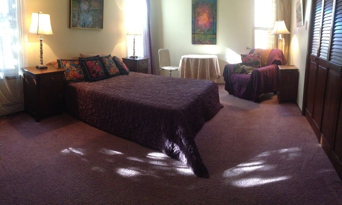 Master Bed and Bath in Artists Home