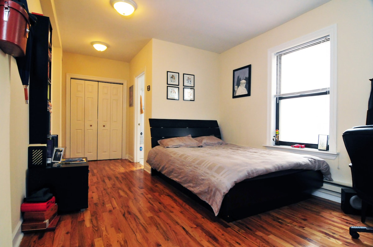 Queen Bed and Closet Space