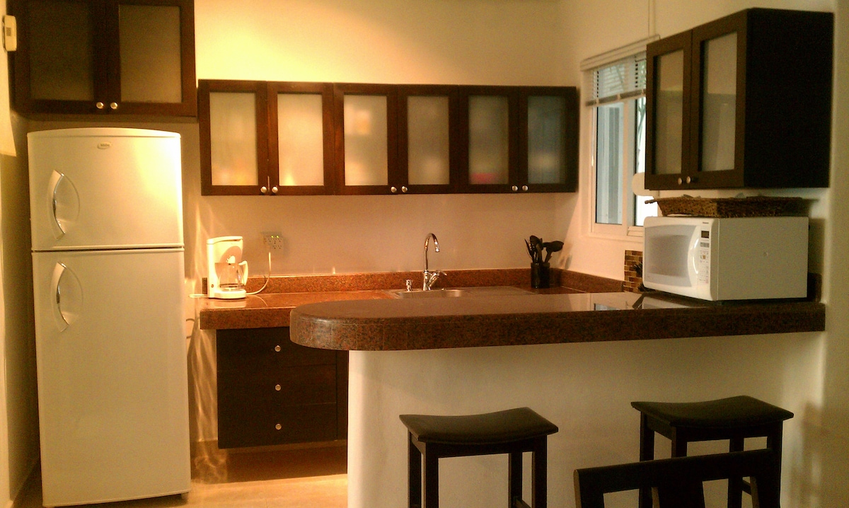 kitchen with granite and lots of cabinets