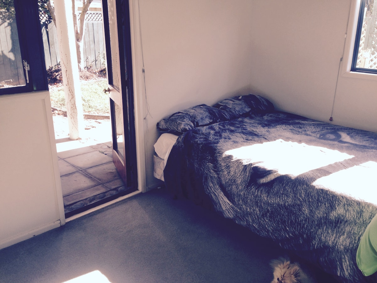 Bedroom on ground level of City Tow