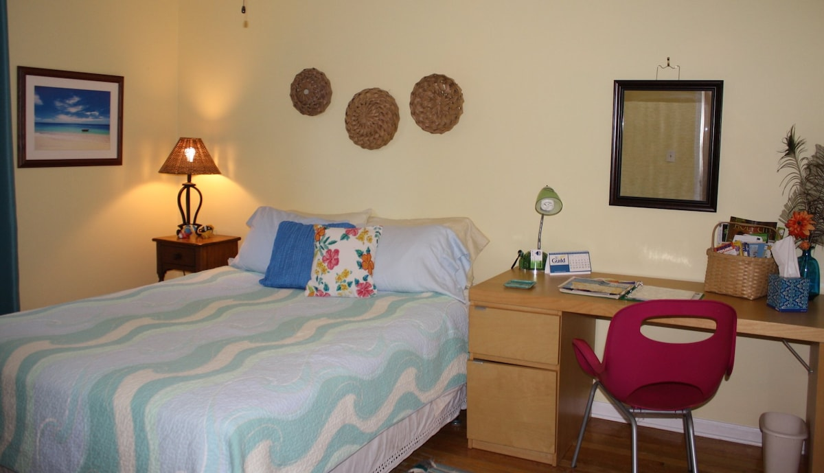 Recently remodeled room  very cozy and comfy and pretty!