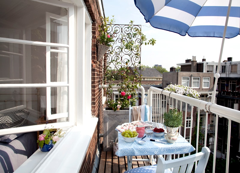 Private balcony with morning sun (from 7 till 14u)