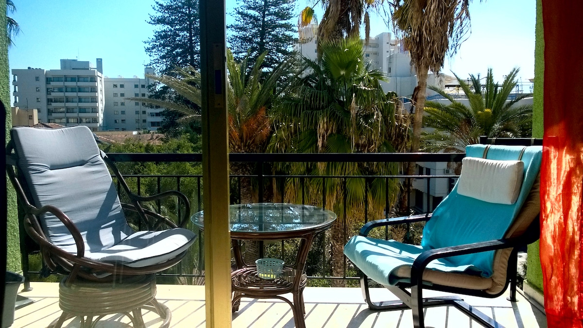 Flat in citycentre with garden view
