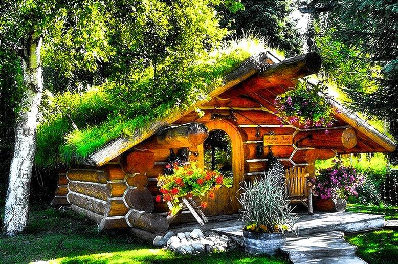 The Hobbit cabin , cozy and unique