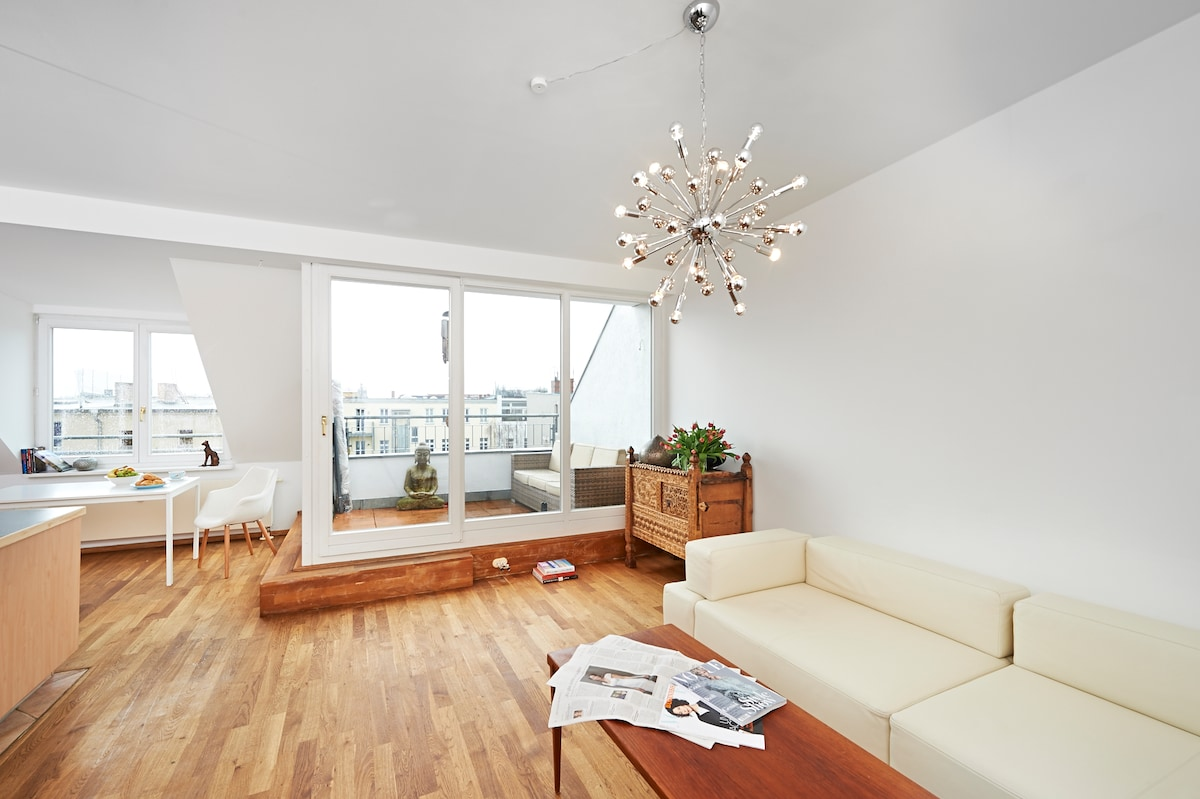 85m2 - central - roof terrace