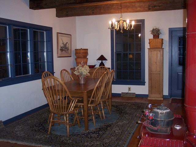 Dining Area with Barnboard Handmade Table