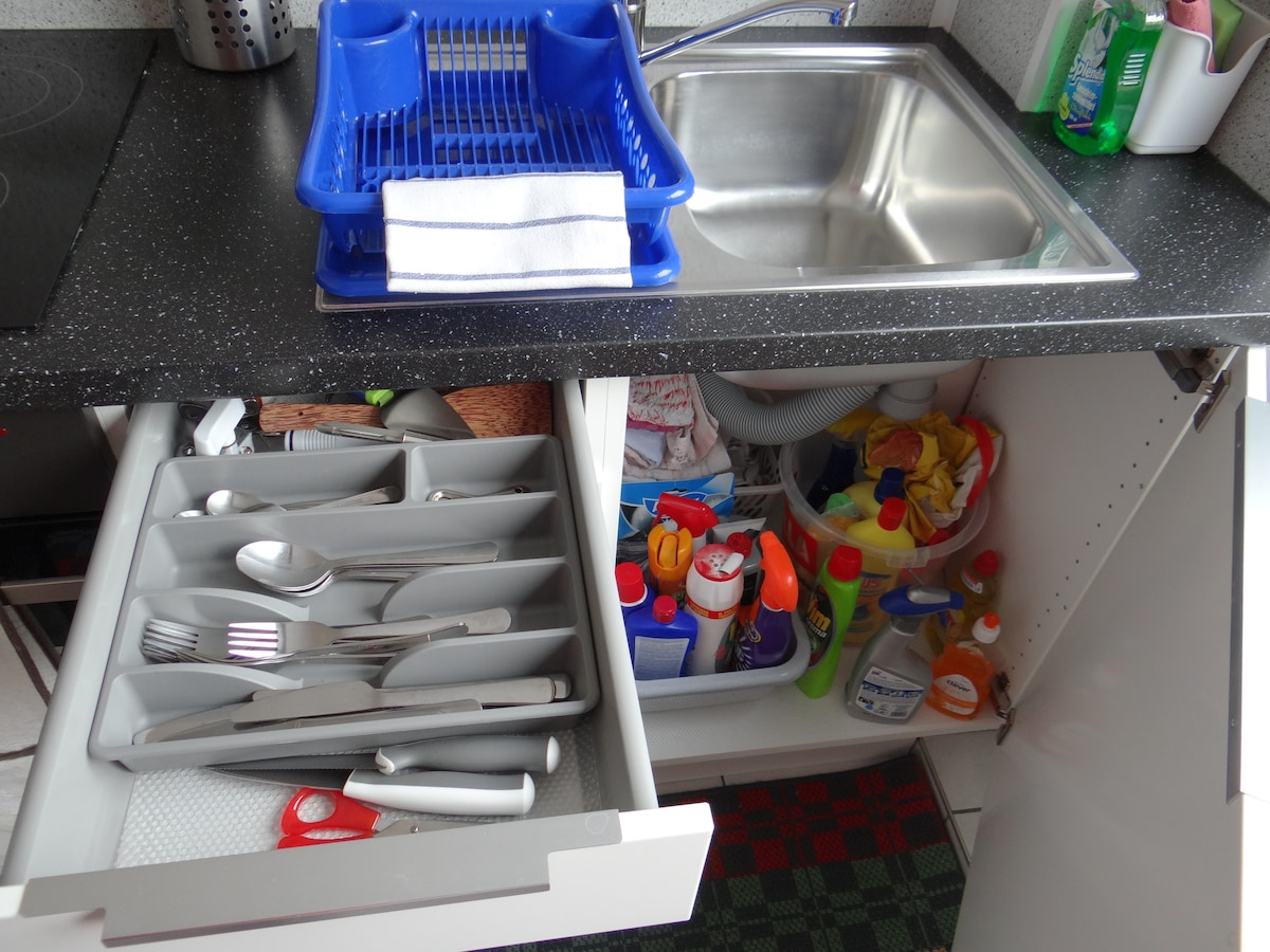 Everything you may need is provided in the kitchen