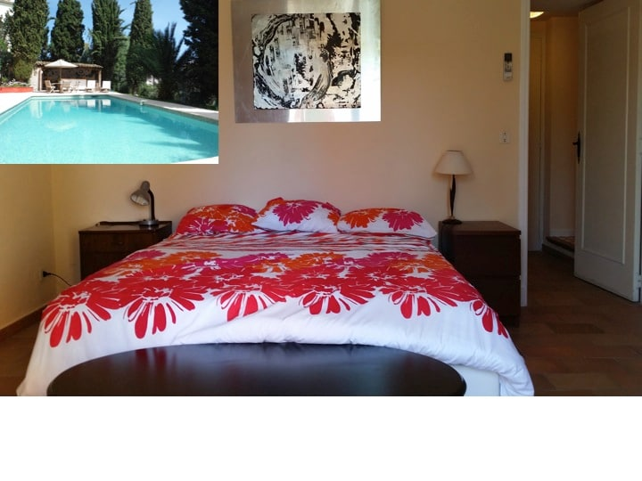 16m² with private bathrm. Pool