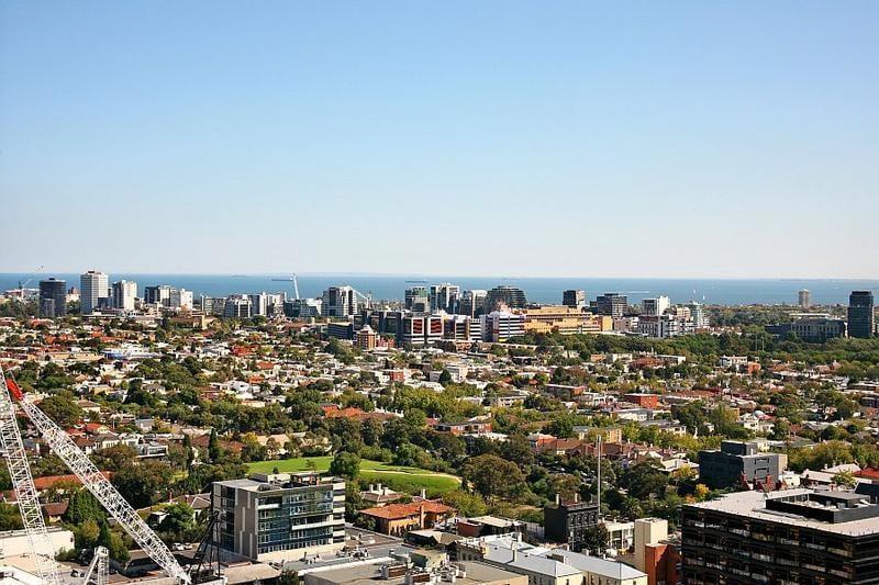 Looking over Port Phillip Bay