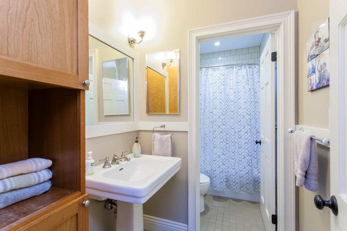 The rental bathroom