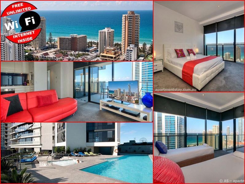 Stunning Lvl 25 2BED 2BATH Circle on Cavill apartment lvl 25 with all resort facilities
