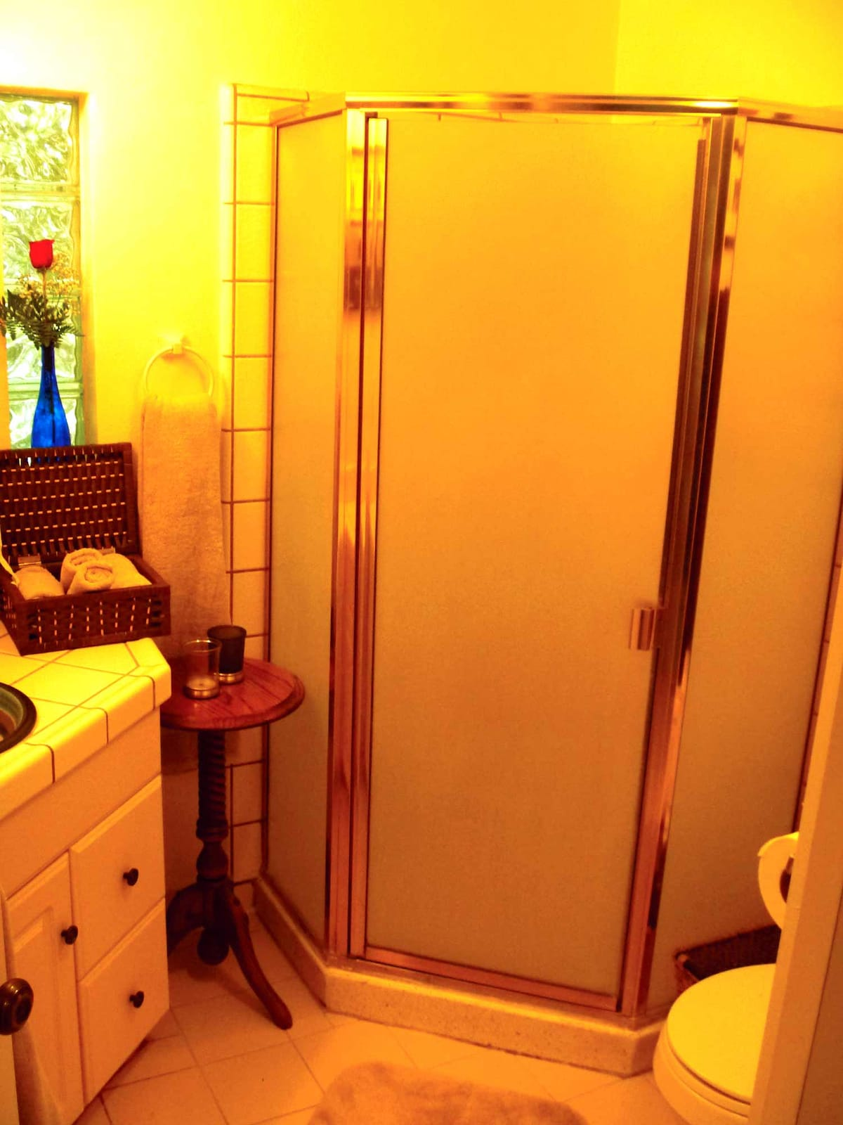 View of shower.