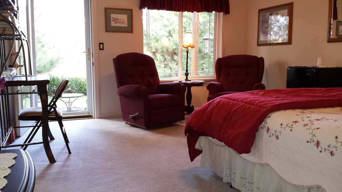 Master Bedroom~Private Patio~Yard~View~Entrance