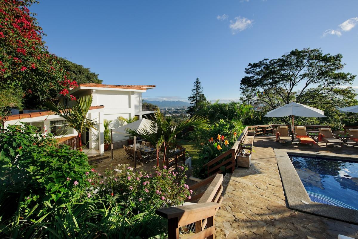 Elegant residence with heated pool
