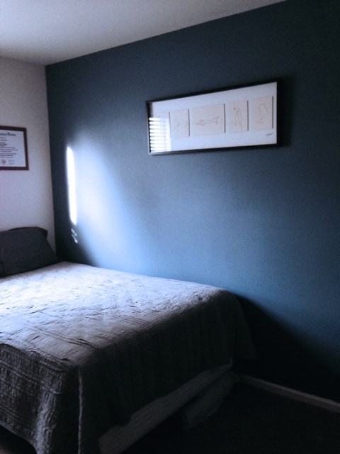 brand new full size bed! nice natural light if you want it.  There are blinds on the window if you don't!