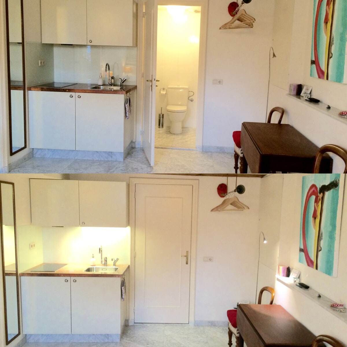 Ensuite bathroom with toilet and shower