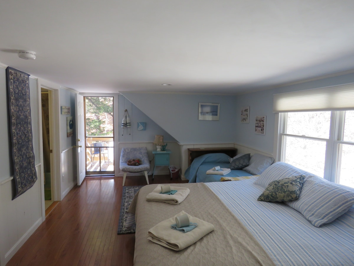 Spacious room w/ sunny private deck