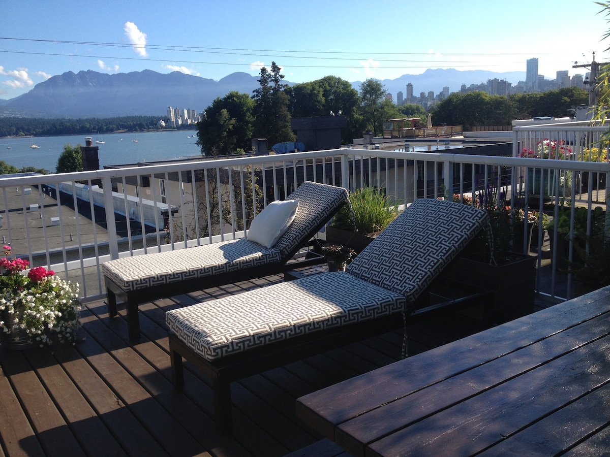 Kits Beach Rooftop Patio with View