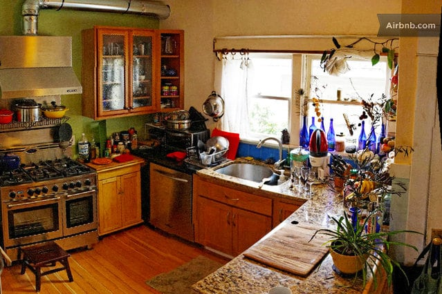 Shared Kitchen on Main floor, not quite finished with my remodel, but handsome and fully functional!