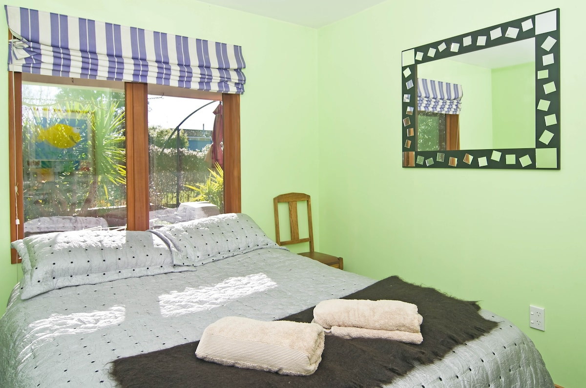 Your Room (now painted blue)   quiet with outlook to lawn and trees