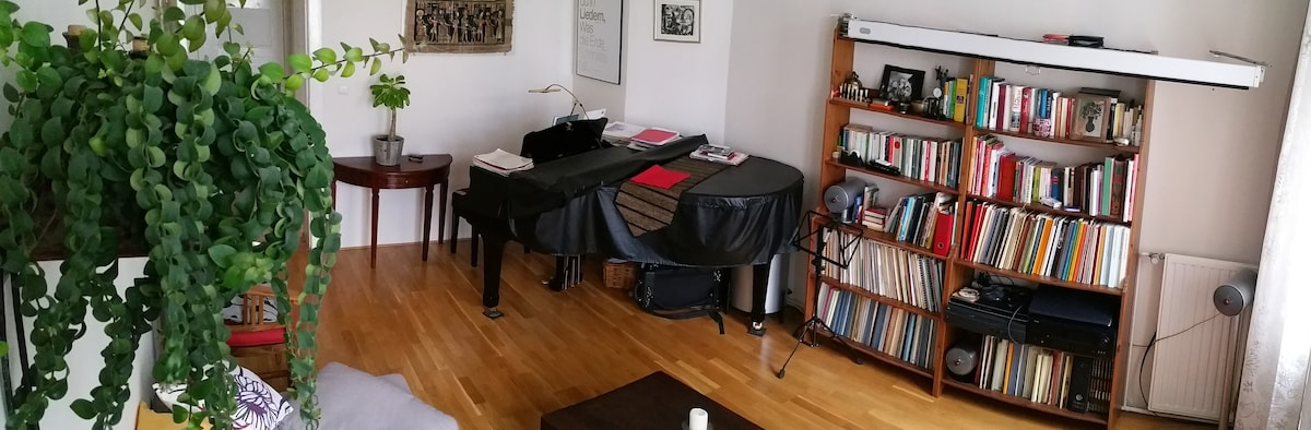 3,5 room apartment with piano