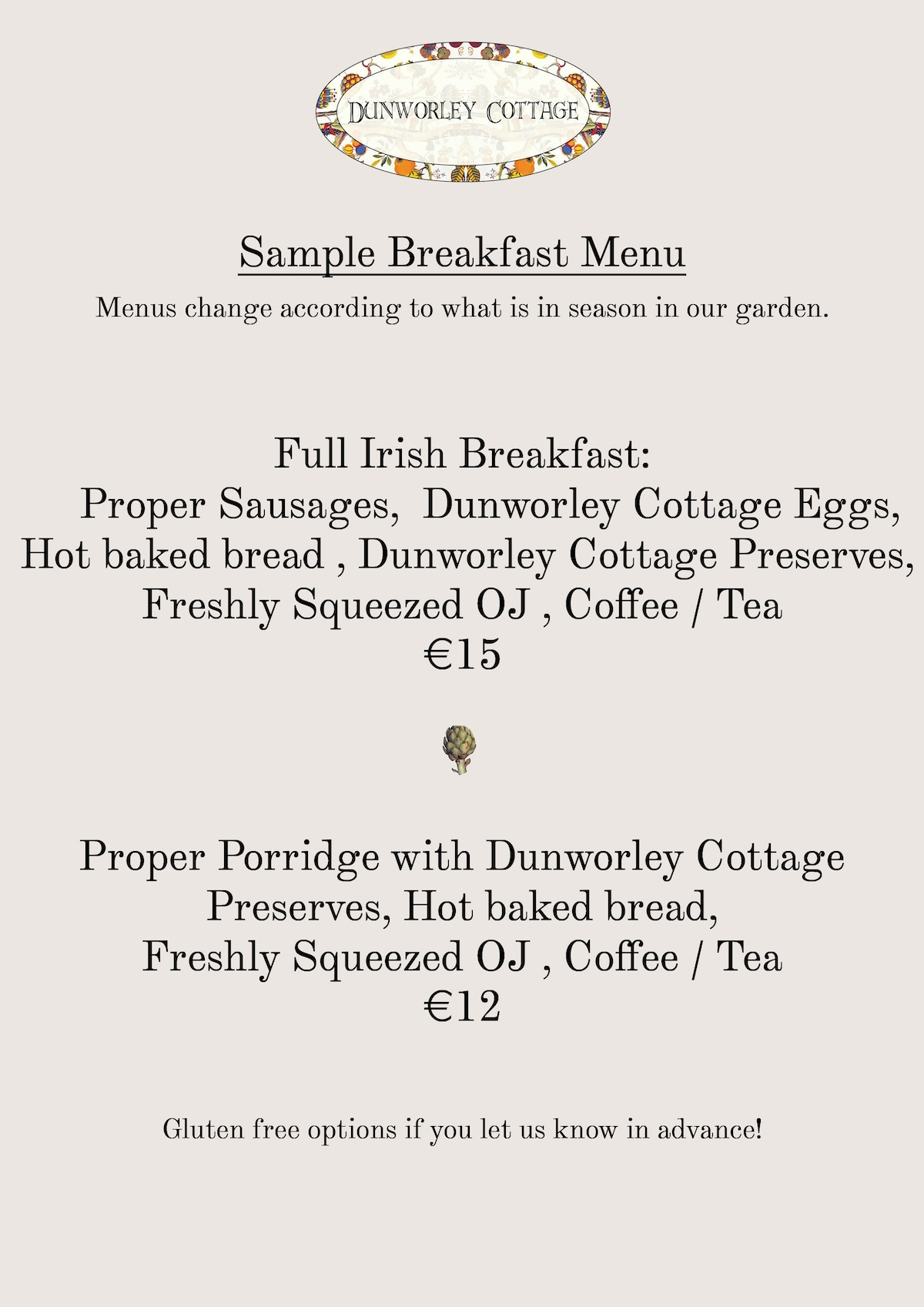 Sample Breakfast Menu. Read our reviews to learn more!