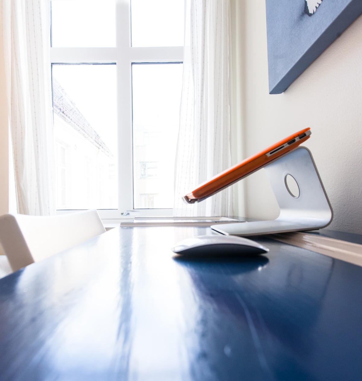 If you're up for a brief session of work – the desk is yours!