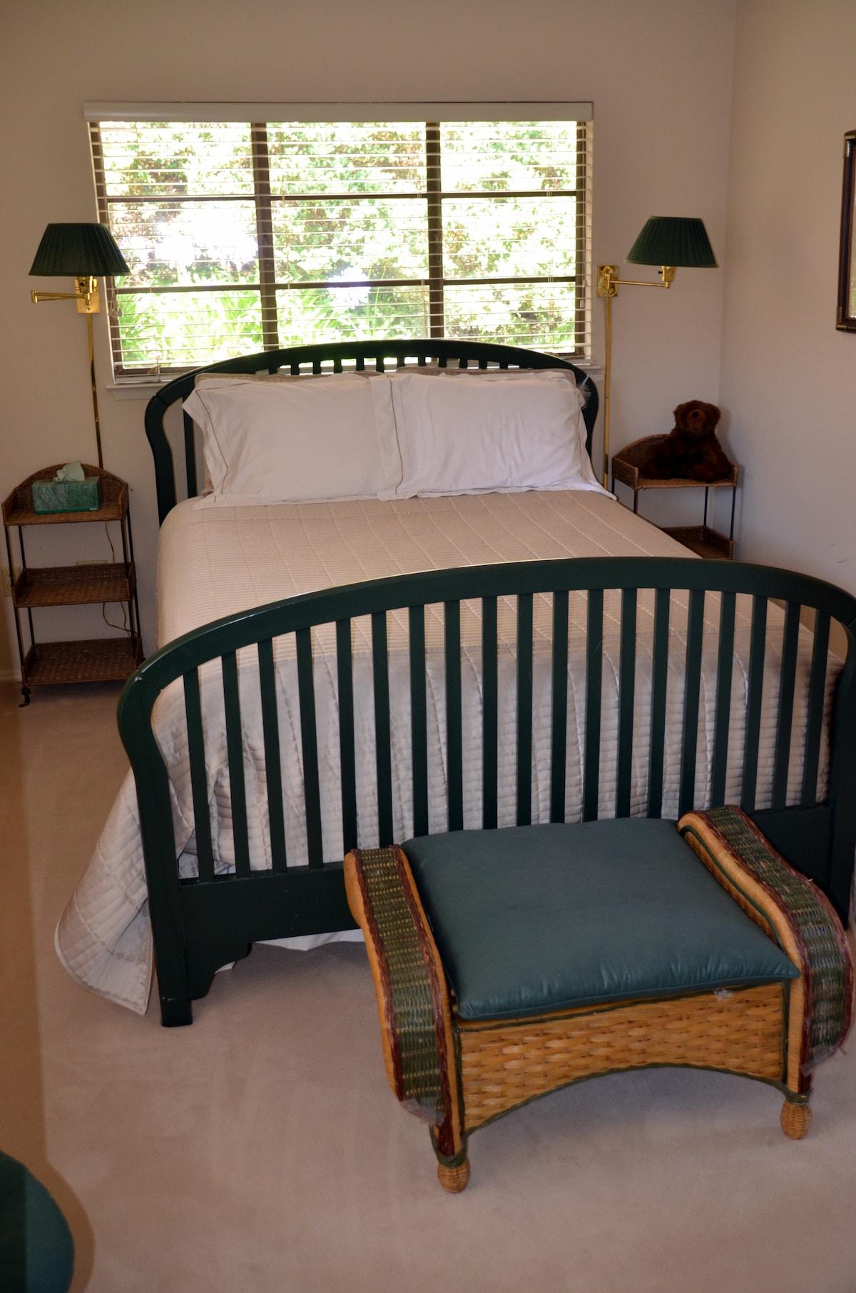 Queen Bed in Guest House Bedroom