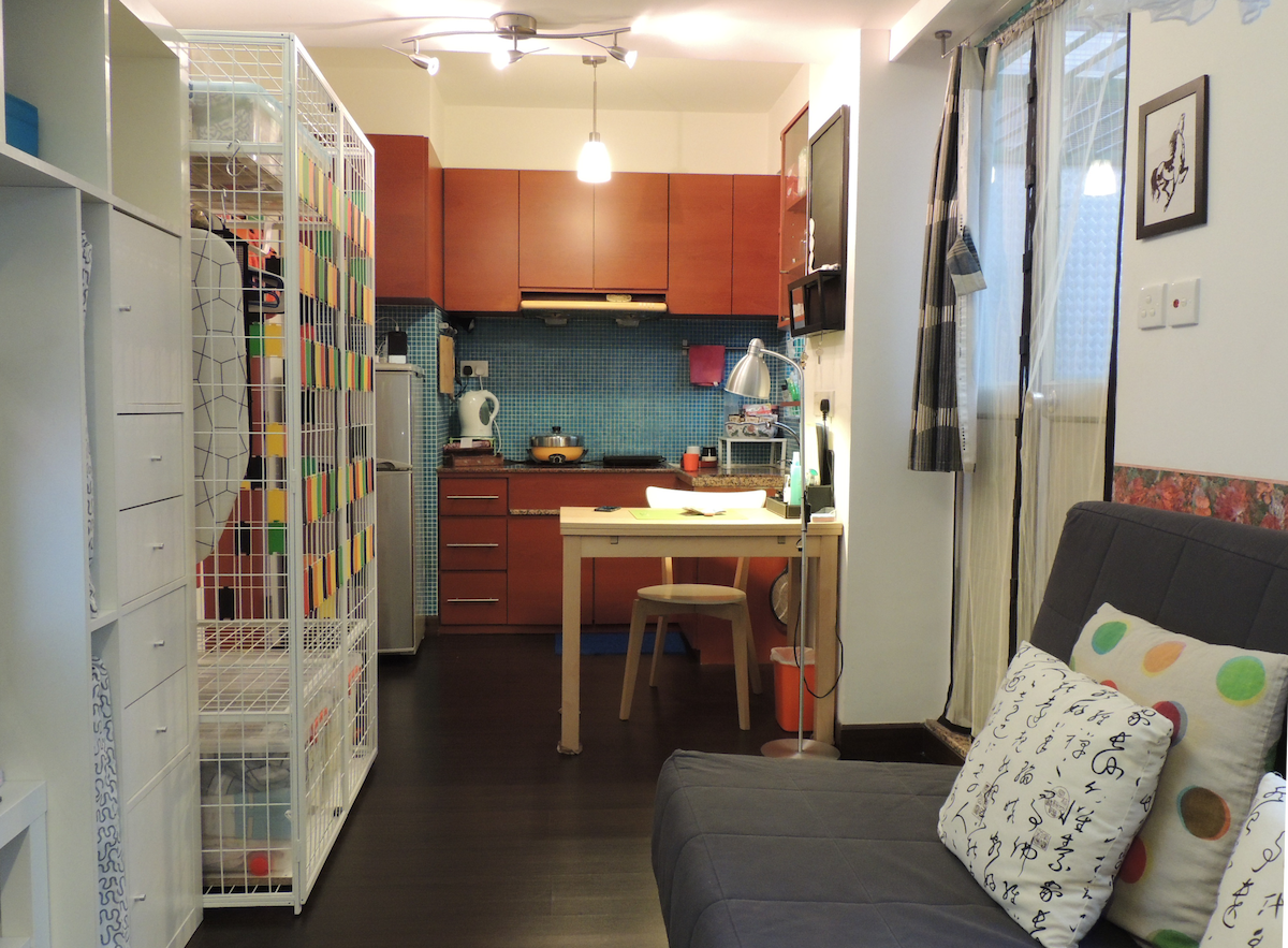 The flat is small even in Hong Kong standard, about 200 sq. ft., excluding the patio.