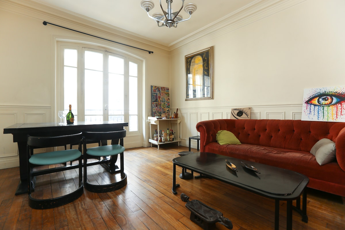 Cosy & large appt in Paris downtow