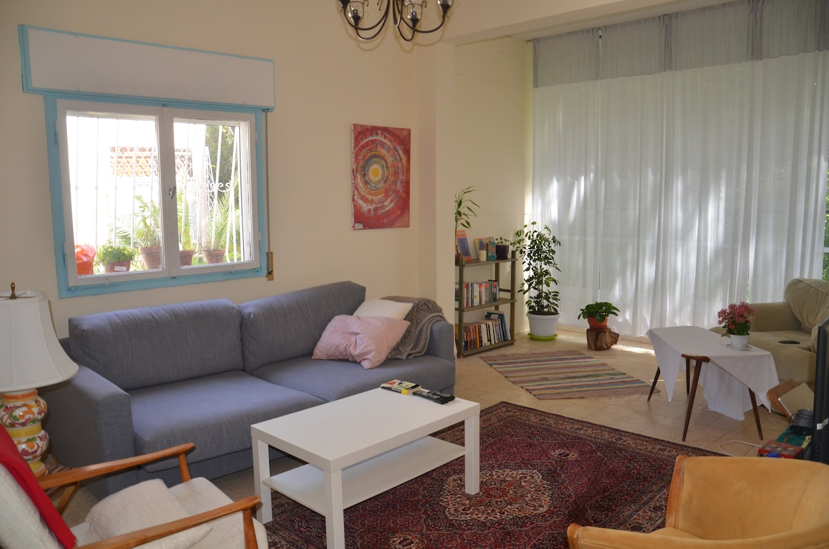 The spacious living-room