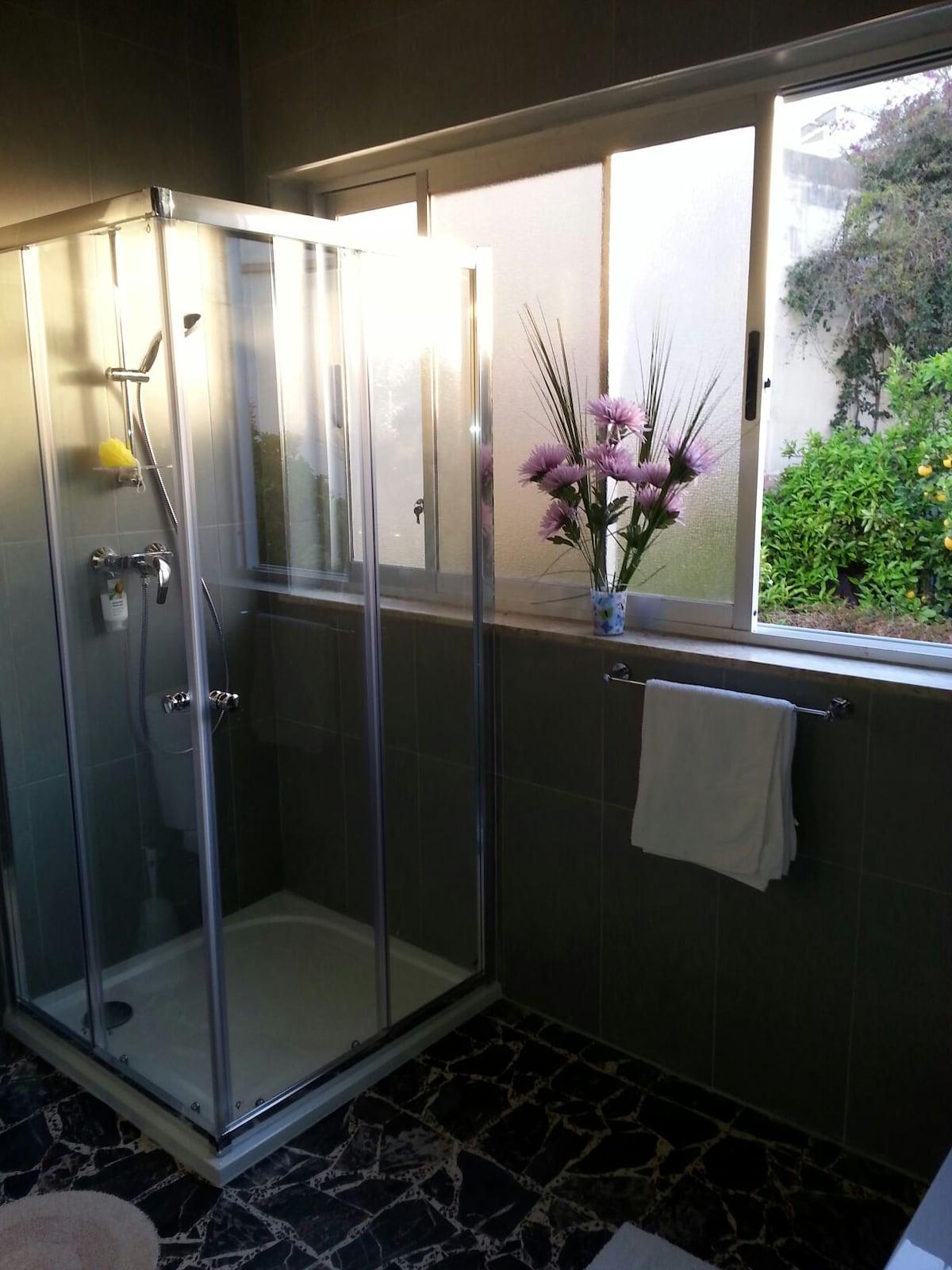 newly furbished bathroom
