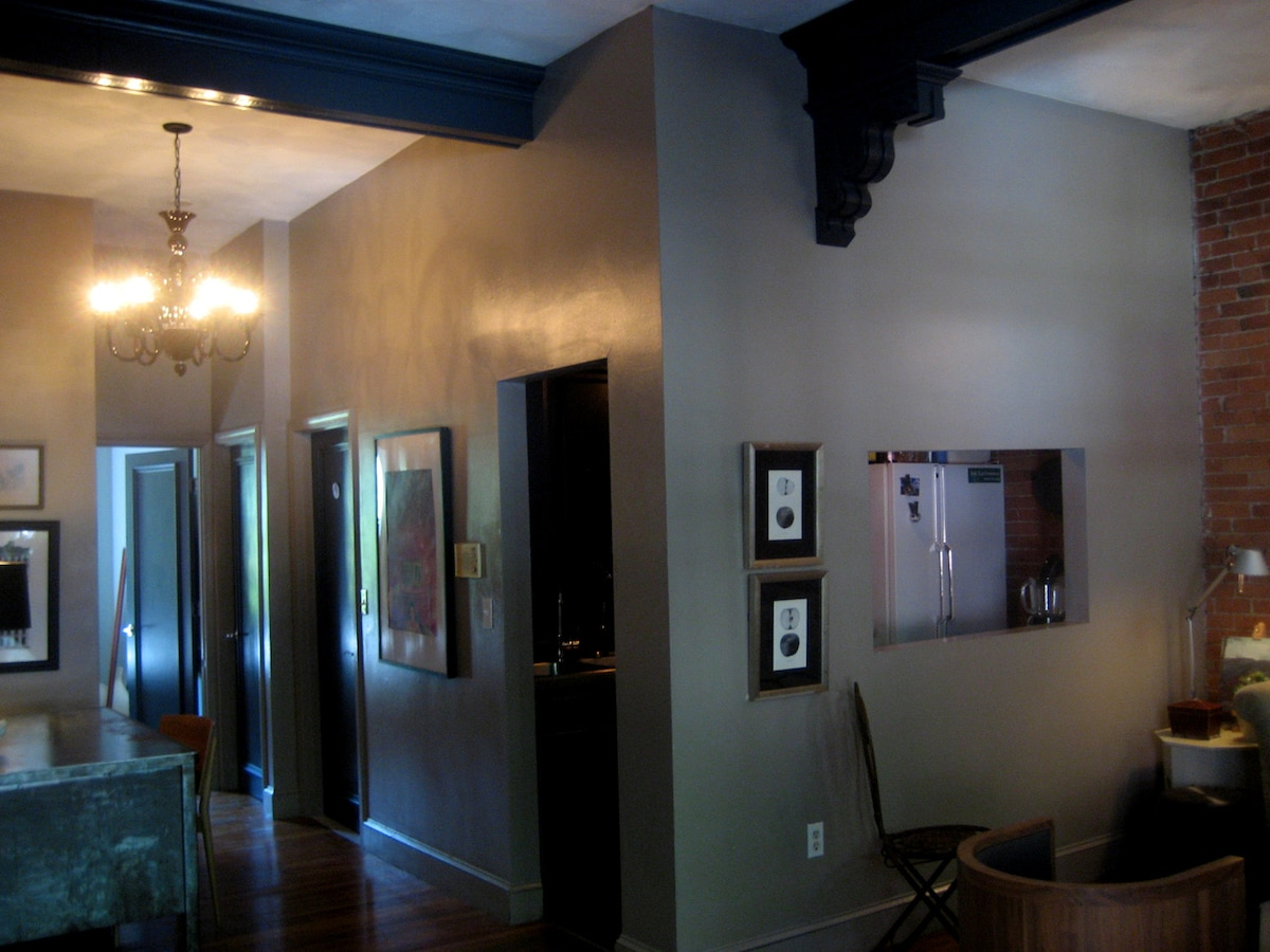 Here is a shot of the hallway and door to kitchen