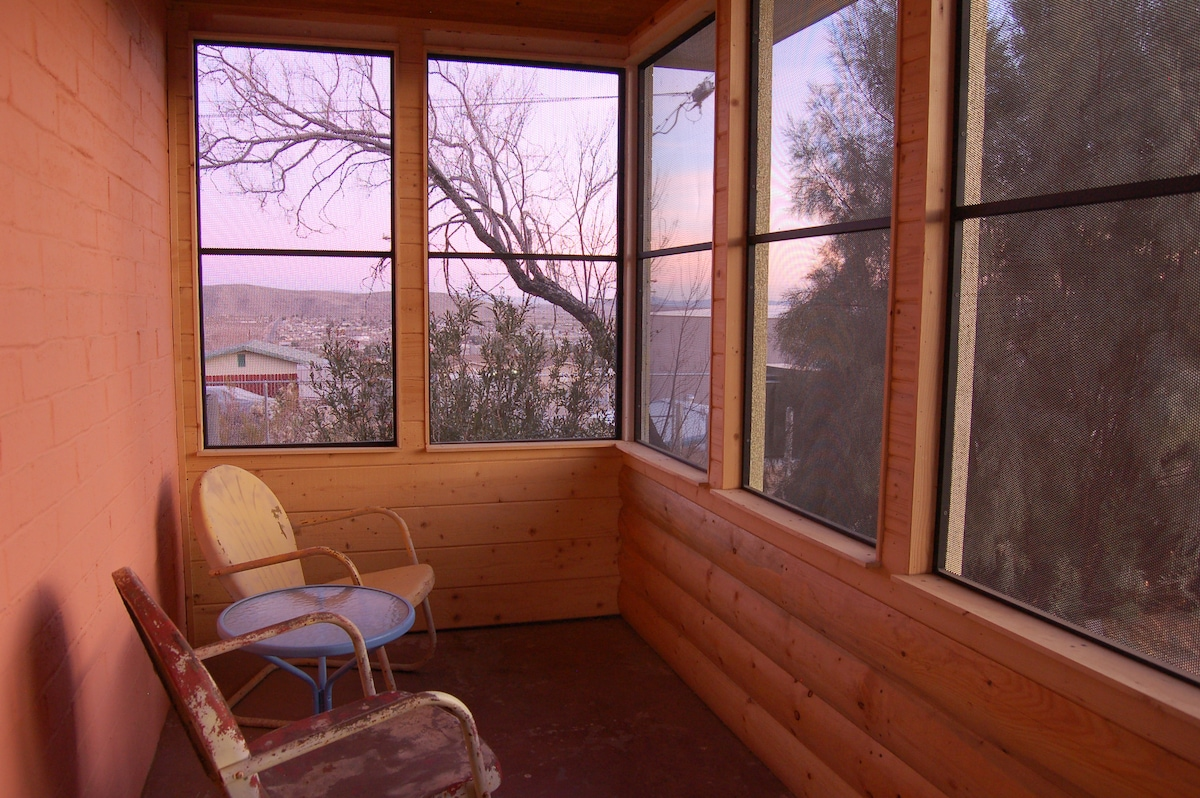 Greet the morning in the screened-in porch.