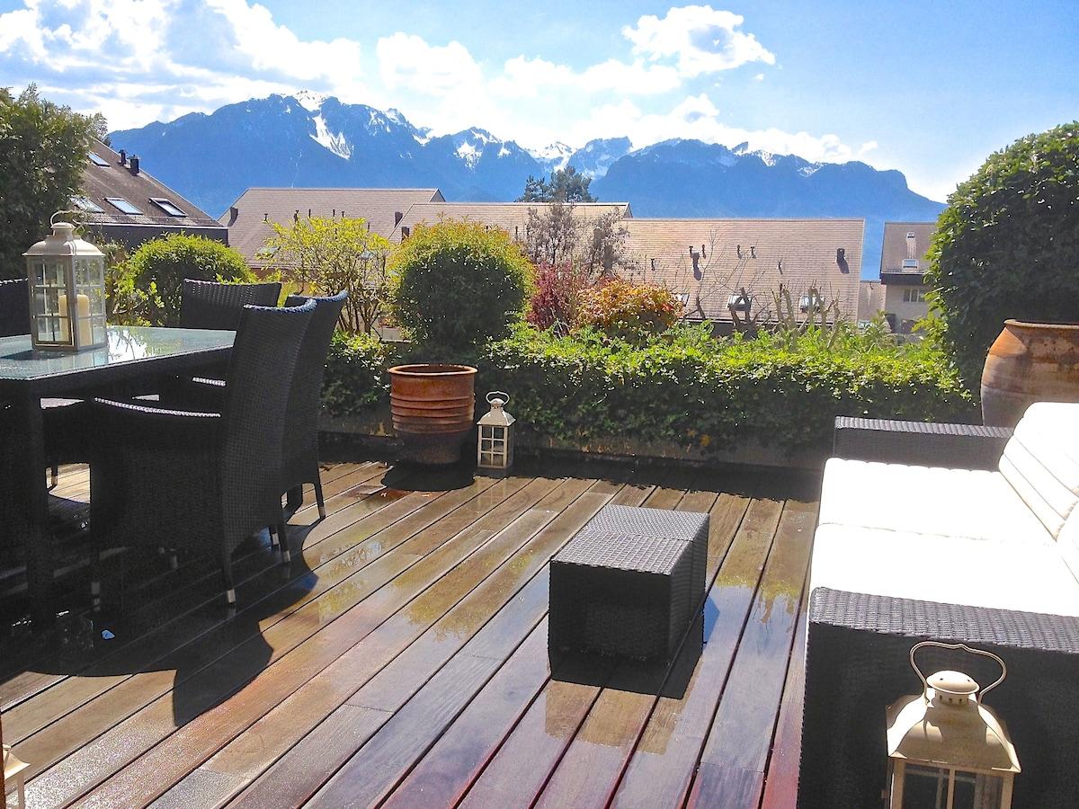 Swiss Bliss Apartment w/ Alps views
