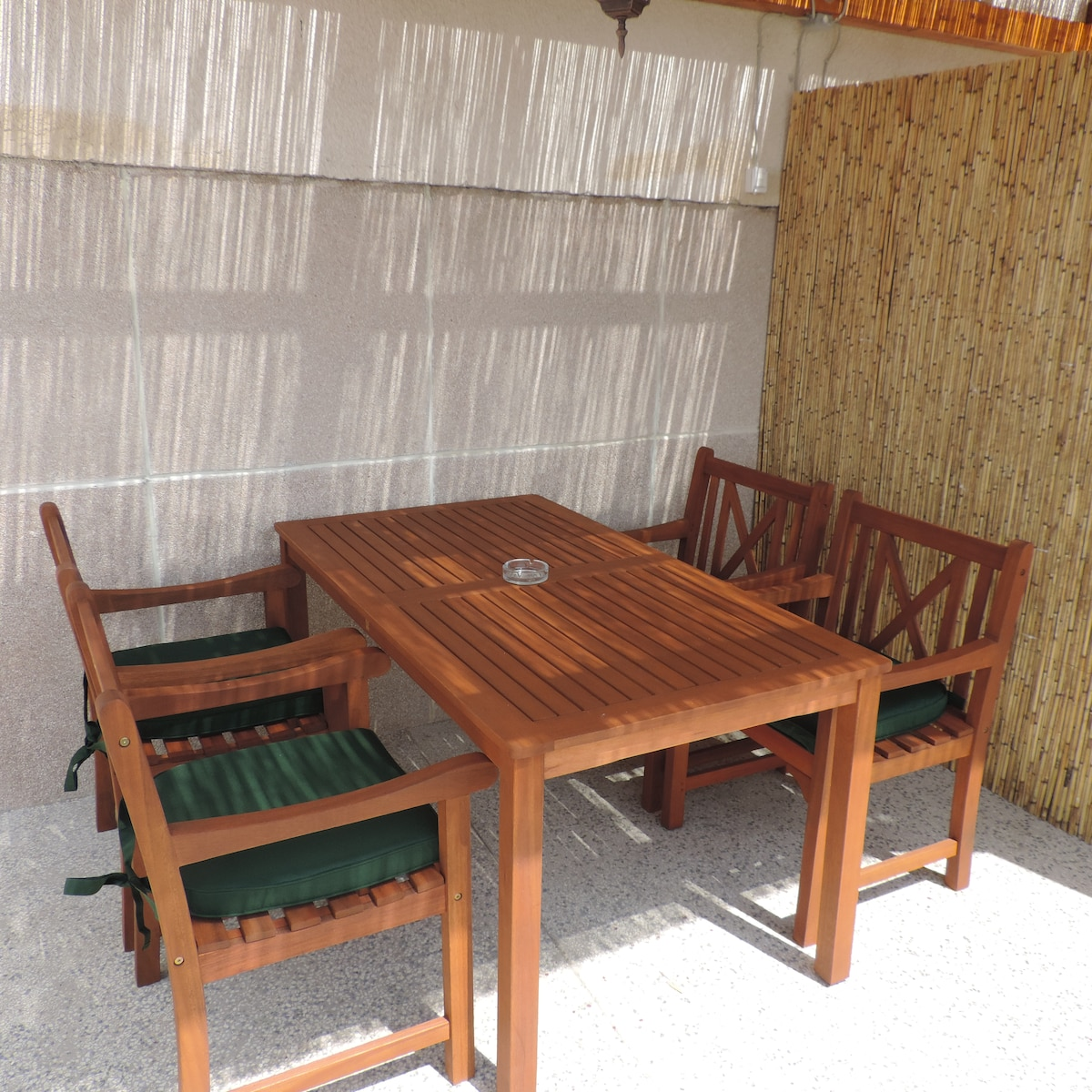 terrace with table and chairs