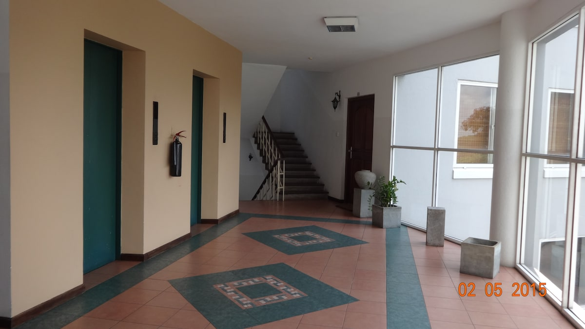 The Lobby with double elevators