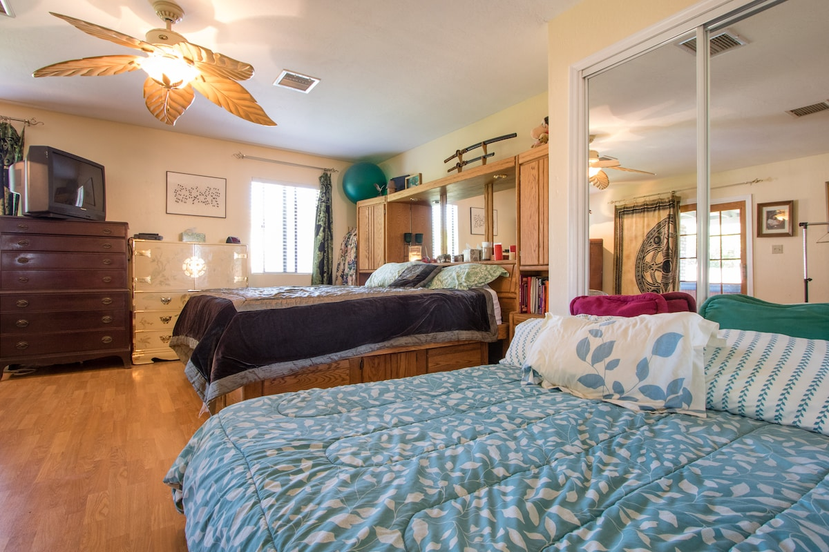 Large Master bedroom with King bed and double bed