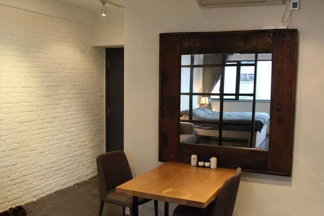 Modern, large, stylish studio