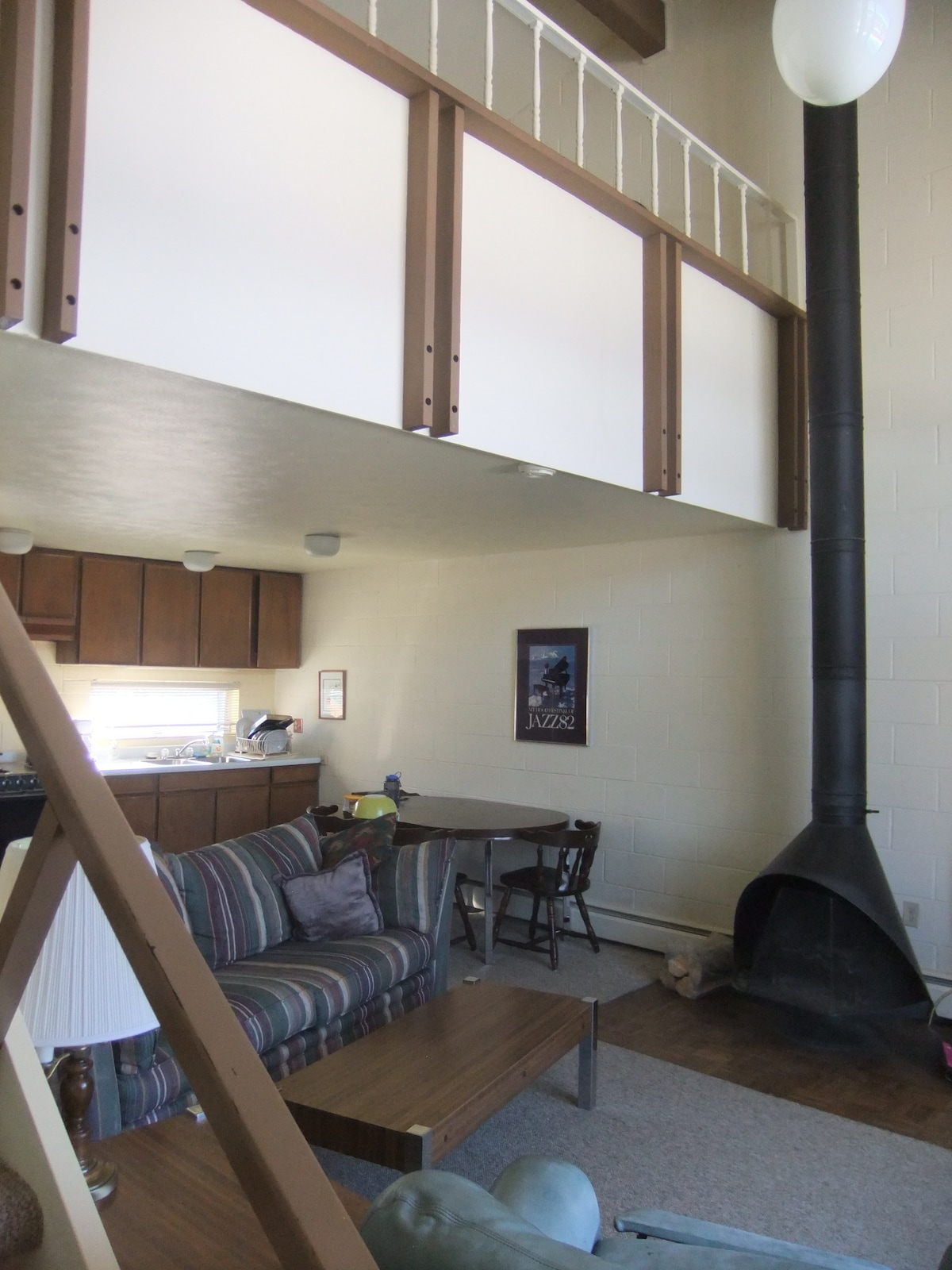 Main room with loft above