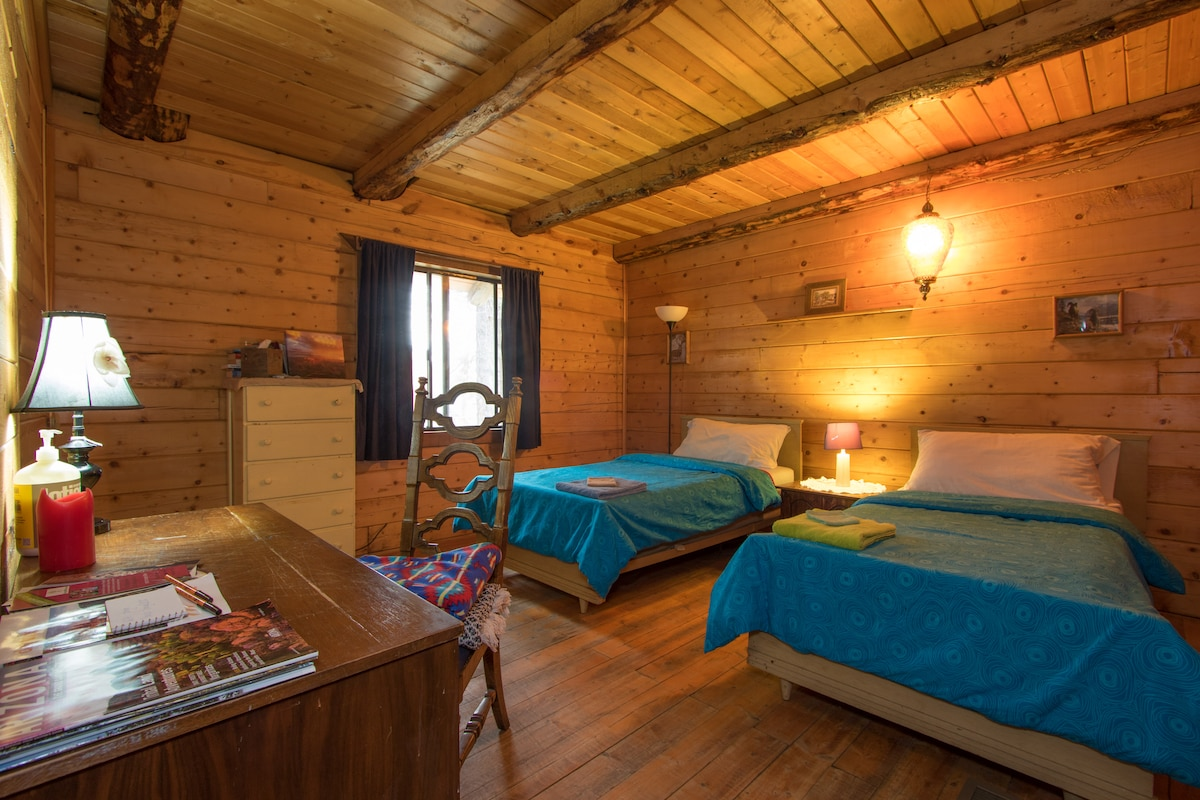Master bedroom with two twin beds (your home for the night)