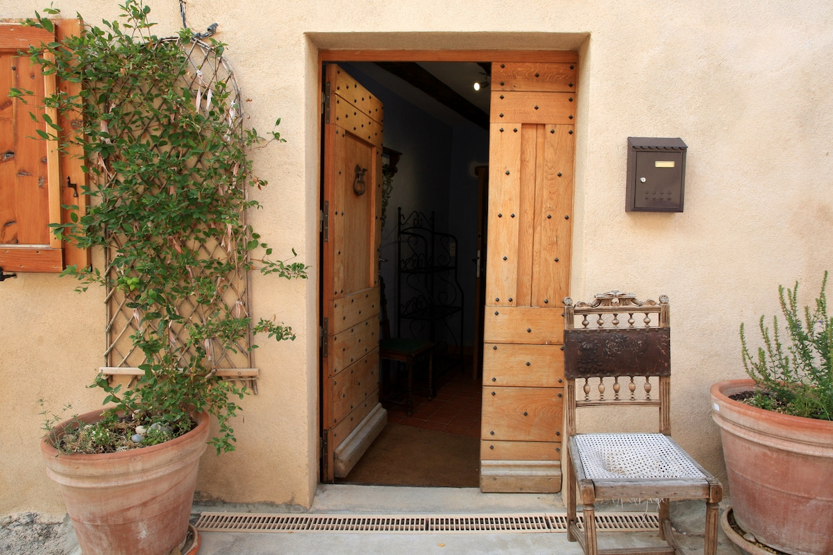 Situated on south facing pedestrian village ruelle