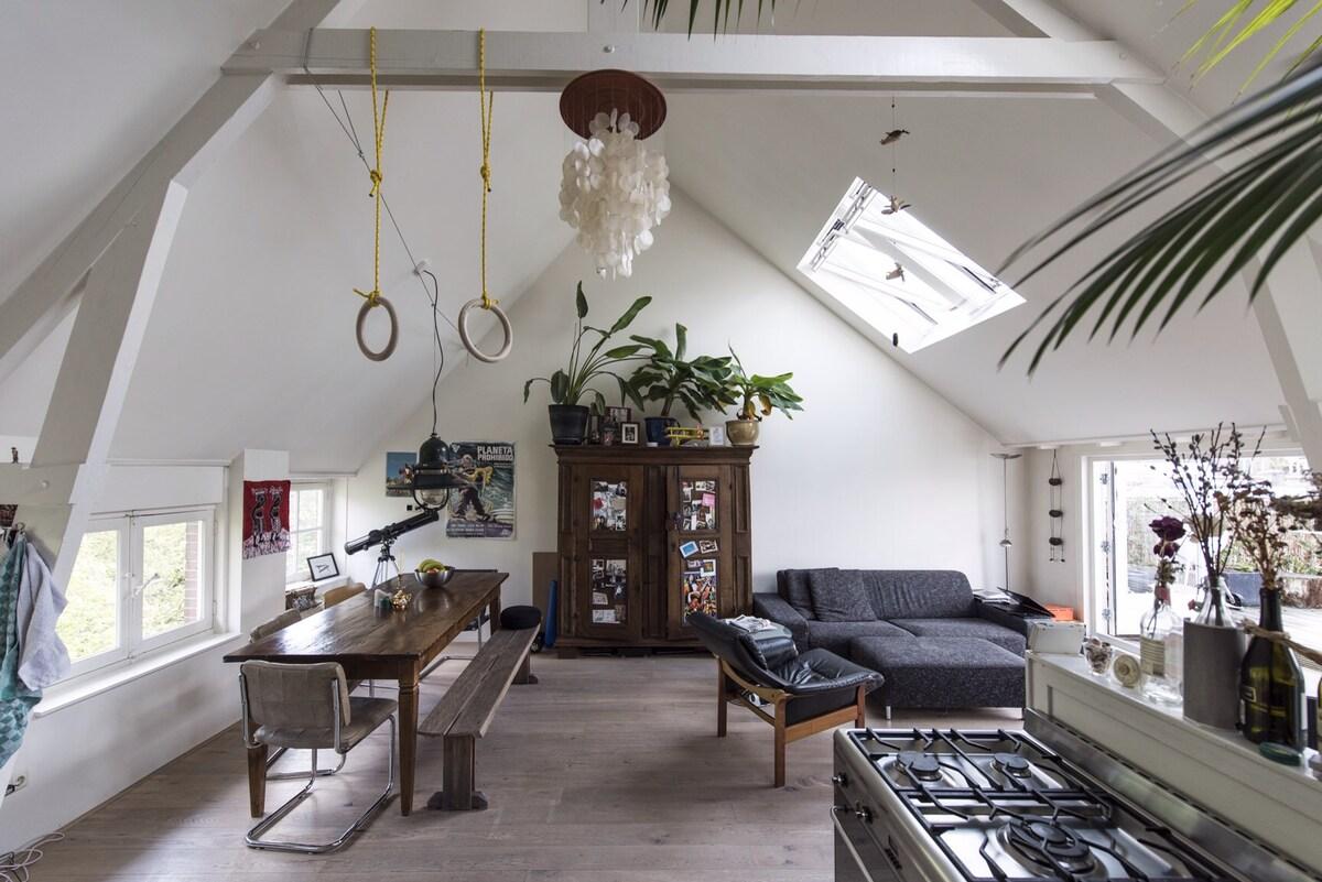 Cozy & light roofterrace apartment