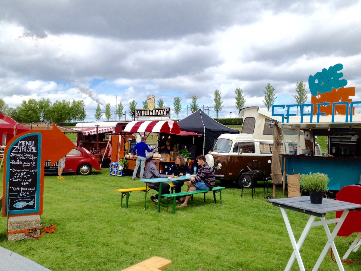 """""""Rolling Kitchens"""" Festival 2015, in the Westerpark."""