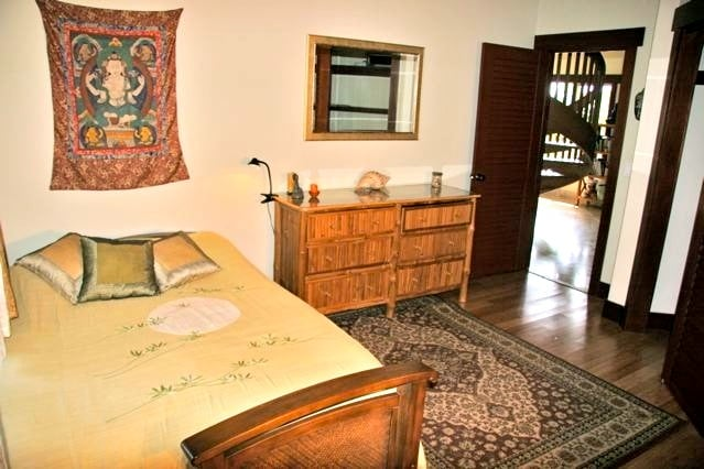 The Jasmine Suite has  the Sweet smell of jasmine flowers outside the window!